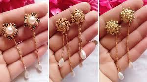 Long <b>Gold Chain Earrings</b> Designs // Fashion Dangle <b>Earrings</b> ...