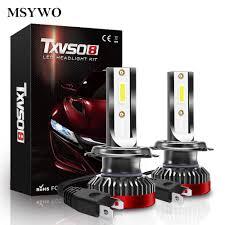 <b>G2R</b> H7 <b>COB</b> LED 2pcs 6000K White LED Headlight Kit <b>G2R</b> H7 For ...