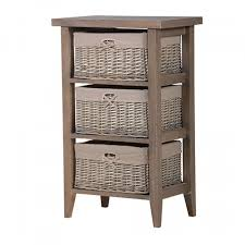 white storage unit wicker:  bathroom basket cabinets