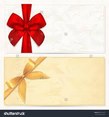 voucher gift certificate coupon gift money stock illustration voucher gift certificate coupon gift money bonus or gift card blank template