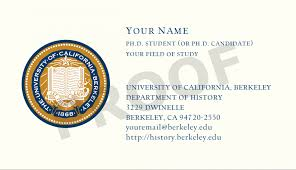 ph d business cards department of history uc berkeley inline image 1