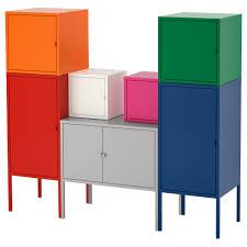 LIXHULT Storage <b>combination</b> - red/orange/gray <b>pink</b>/white, <b>blue</b> ...