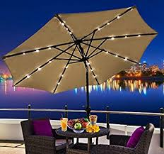 patio umbrella lights choice outsunny outdoor patio umbrella with tilt and solar powered led lights