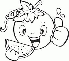 Small Picture Fruits And Vegetables Coloring Pages For Kids Printable Coloring