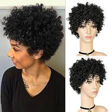 <b>WIGNEE</b> 30% <b>Human</b> Hair Mixed 70% Synthetic Afro <b>Curly</b> Short ...