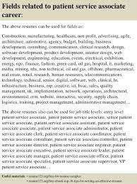 16 fields related to patient service associate patient service associate