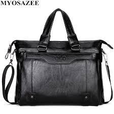 <b>MYOSAZEE Famous Brand Men</b> Fashion Simple Business Briefcase ...