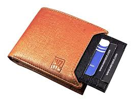 Buy WENZEST Men Tan, <b>Black Artificial Leather</b> Wallet (6 Card Slots ...