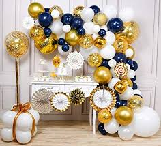 PartyWoo Navy and Gold Balloon Garland Kit, 114 ... - Amazon.com