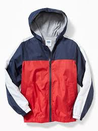 Old Navy Red, White & Blue Color-Block Windbreaker for Boys ...