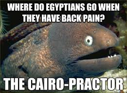 where do egyptians go when they have back pain? THE CAIRO-PRACTOR ... via Relatably.com