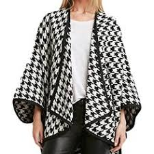 Give us a look! @ dapperNdame <b>Houndstooth Poncho</b> Fall Inspo by ...
