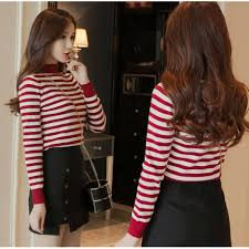 <b>Autumn Korean Fashion Women</b> Knitted Sweater Long Sleeve ...