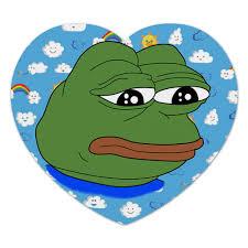 """Коврик для мышки (сердце) """"<b>Pepe</b> Frog"""" #2032658 от Jimmy Flash ..."""