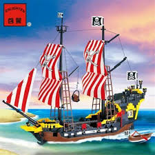 Pirates Ship <b>Big Black Pearl</b> Building Blocks Cannon Boat Toys For ...