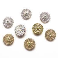 Wholesale <b>Rhinestone</b> Flatback <b>Embellishments Button</b> - Buy ...