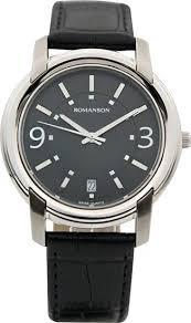Мужские часы Romanson TL2654MW(BK)BK - Агрономоff