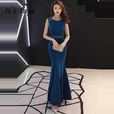 It's YiiYa <b>Evening</b> Dress 2019 <b>Appliques</b> Beading O neck Gray ...