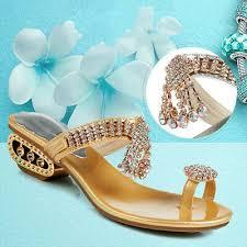 <b>Water Diamond Slippers Female</b> Summer Roman Fashion Sexy ...