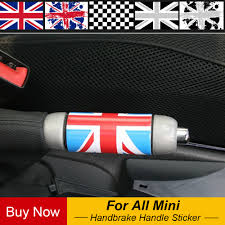<b>1pc</b> Union Jack Auto Car Hand Brake DIY Sticker Decal <b>For Mini</b> ...