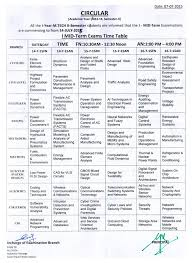 m tech i mid circular jpg i mid exams time table exams starts from 14th 2015