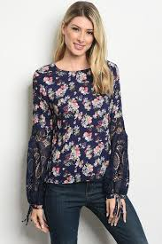 <b>Women's Long</b> Sleeve <b>Floral</b> Blouse | Blessons Boutique