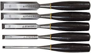 """<b>Набор стамесок</b> """"<b>Stayer. Master</b>"""" плоских с пластмассовой ручкой ..."""