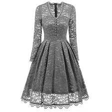 <b>Vintage</b> Style <b>Long Sleeve</b> Dresses: Amazon.co.uk