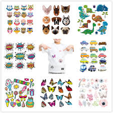 DIY Heat Transfer <b>Patches Cute Animals Set</b> Iron on Patches For ...