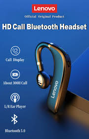 <b>Lenovo HX106</b> BT 5.0 <b>Headset Wireless Earphone</b> Single Ear HiFi ...