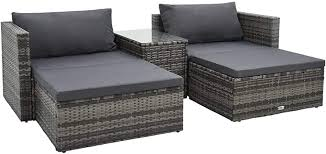 WWZH 5 Piece Garden Lounge Set with Cushions ... - Amazon.com