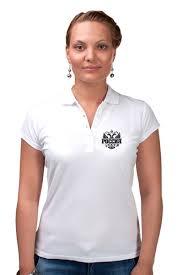 """Рубашка Поло """"Россия"""" #2135867 от gopotol - <b>Printio</b>"""