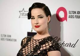 dita von teese arrives at the 2016 elton john aids foundation oscar party in west hollywood