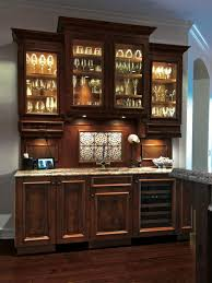 l alluring design home wet bar furniture ideas with dark brown wooden cabinets and built in fridge also floating cabinets with glass doors with sitcom bar furniture designs home
