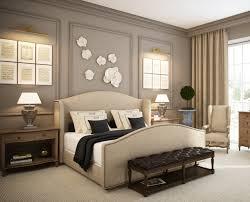 opulent blue brown bedroom panorama