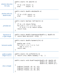 java programming cheatsheet example functions