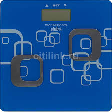 Купить Напольные весы <b>SINBO SBS 4448</b>, цвет: синий/<b>белый</b> в ...