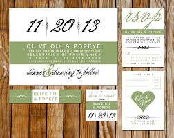 modern wedding invitation card rsvp hang tag belly band 🔎zoom