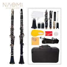 Woodwind & Harmonicas - <b>NAOMI</b> Professional Bb <b>17-Key</b> Clarinet ...