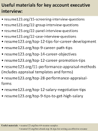 top  key account executive resume samples       useful materials for key account executive