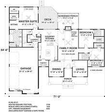 The Long Meadow   Bedrooms and   Baths   The House DesignersFloor Plan