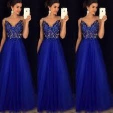 <b>2019 Summer New</b> Fashion Formal Evening Prom Mesh <b>V Neck</b> ...