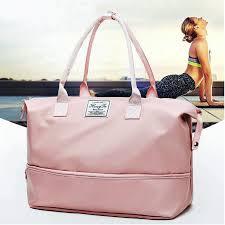 Pink Women Sport <b>Bags</b> For Gym Duffel <b>Luggage</b> Shouder <b>Bag</b> ...