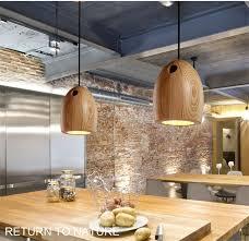 L31 Creative solid <b>Wood Led Pendant</b> light Cafe Restaurant <b>Wood</b> ...