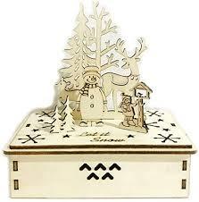 Merry <b>Christmas</b> Wooden Hand <b>Shake Music</b> Santa Claus Box ...