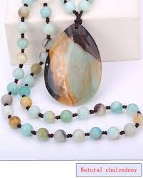 Women <b>Necklace Pop</b> Natural Crystal Classic <b>Irregular</b> Stone ...