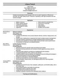 forklift operator resume   best resume galleryforklift operator resume