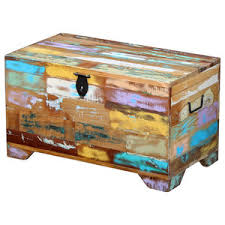 vidaXL <b>Solid Reclaimed</b> Wood <b>Storage Chest</b> - Country - Decorative ...