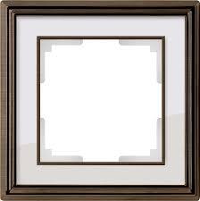 <b>Рамка</b> на 1 пост (бронза, белый) <b>Werkel</b> WL17-Frame-01 ...