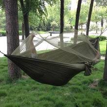 hot sale double hammock 450 lbs portable travel camping hanging swing lazy chair canvas hammocks